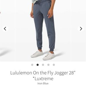 ISO Lululemon on the fly joggers size 4 or 2
